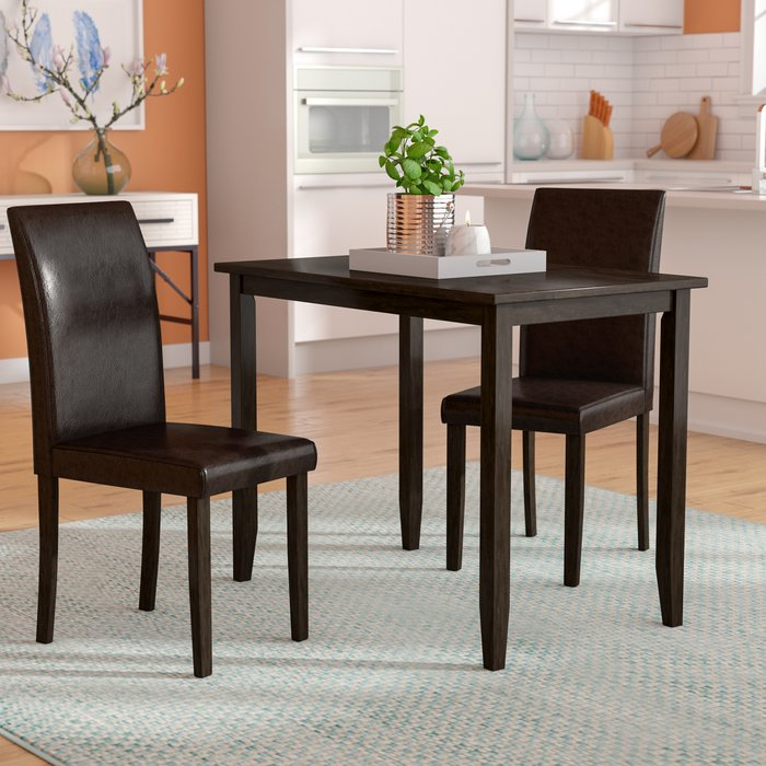 Baillie 3 Piece Dining Set With Rossiter 3 Piece Dining Sets (Image 4 of 25)