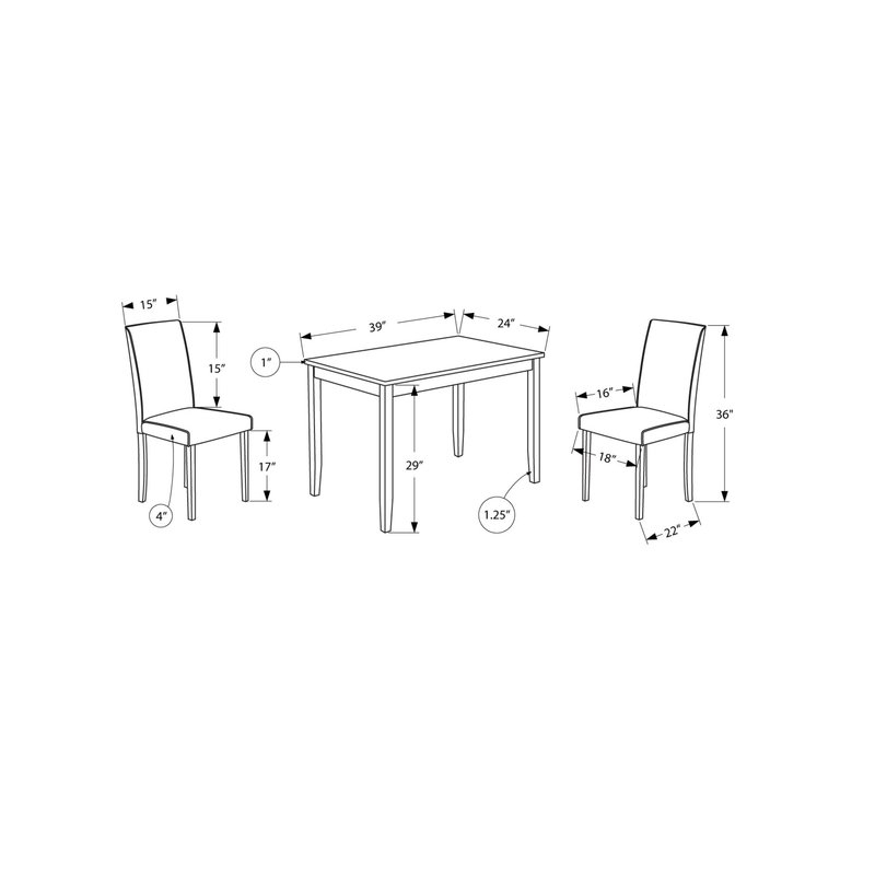 Baillie 3 Piece Dining Set Within Baillie 3 Piece Dining Sets (View 5 of 25)