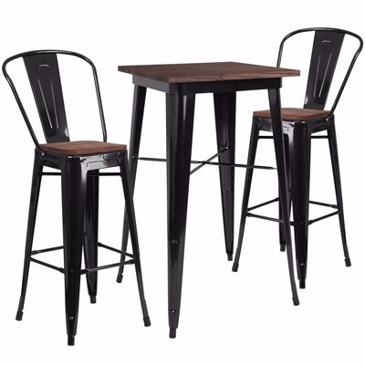 Bar Table Set – Summervilleaugusta Throughout Crownover 3 Piece Bar Table Sets (Image 2 of 25)