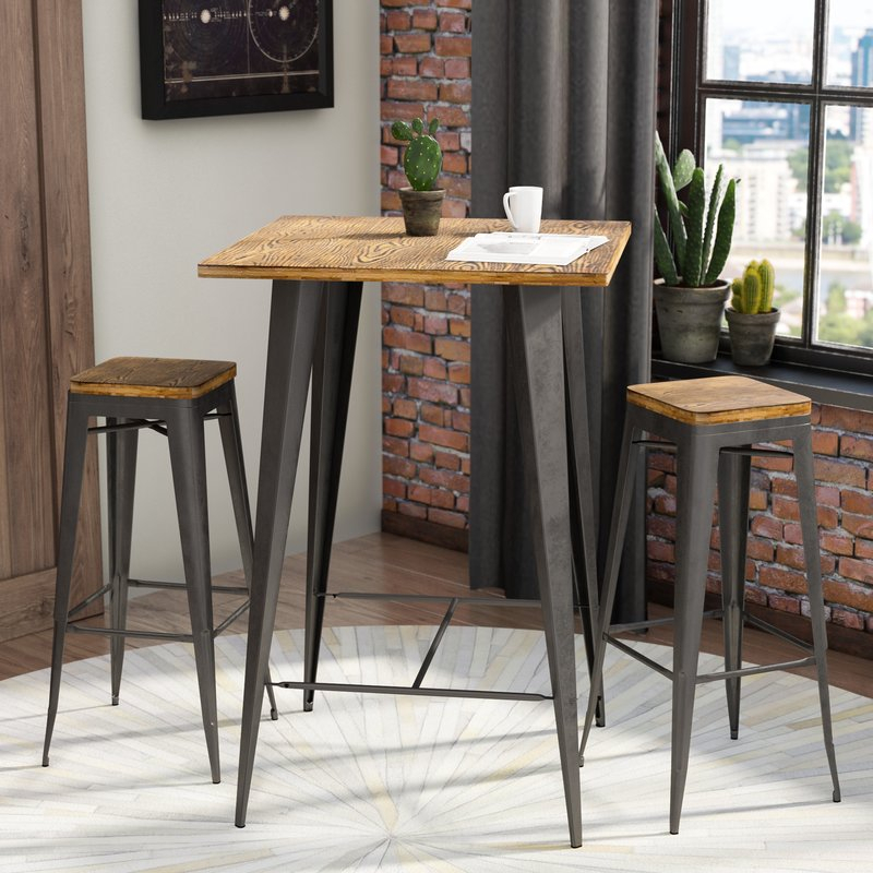 Bar Table Set – Summervilleaugusta With Regard To Crownover 3 Piece Bar Table Sets (Image 3 of 25)