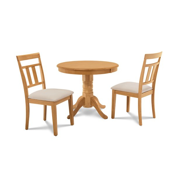 Bargain Cedarville Elegant 3 Piece Solid Wood Dining Setalcott With West Hill Family Table 3 Piece Dining Sets (Image 1 of 25)