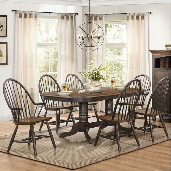 Bargain Estefania 7 Piece Extendable Dining Setgracie Oaks Herry Regarding Sundberg 5 Piece Solid Wood Dining Sets (Image 6 of 25)