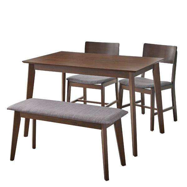 Bargain Fortunata 4 Piece Dining Setwrought Studio Great Reviews Inside Honoria 3 Piece Dining Sets (Image 3 of 25)