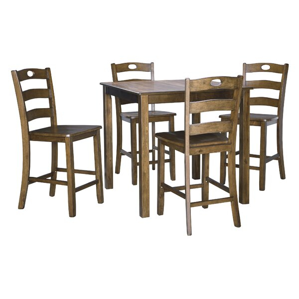 Bargain Hillhouse 5 Piece Dining Setred Barrel Studio Spacial Pertaining To Wiggs 5 Piece Dining Sets (View 19 of 25)