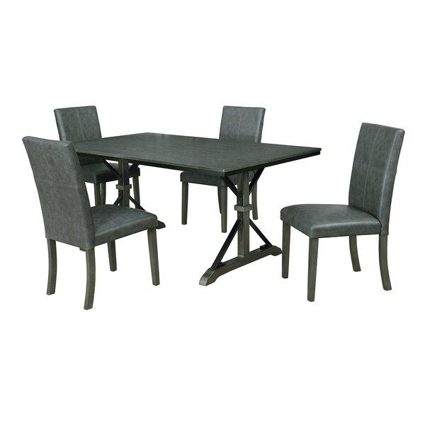Bargain Palou 5 Piece Dining Setgracie Oaks 2019 Sale | Kitchen Inside Baillie 3 Piece Dining Sets (View 11 of 25)