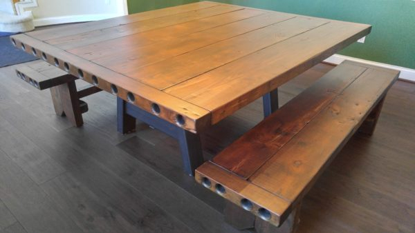 Barnwood Dining Table With 3″ Top $3,200 – Rustic Refinery Pertaining To Cincinnati 3 Piece Dining Sets (View 20 of 25)