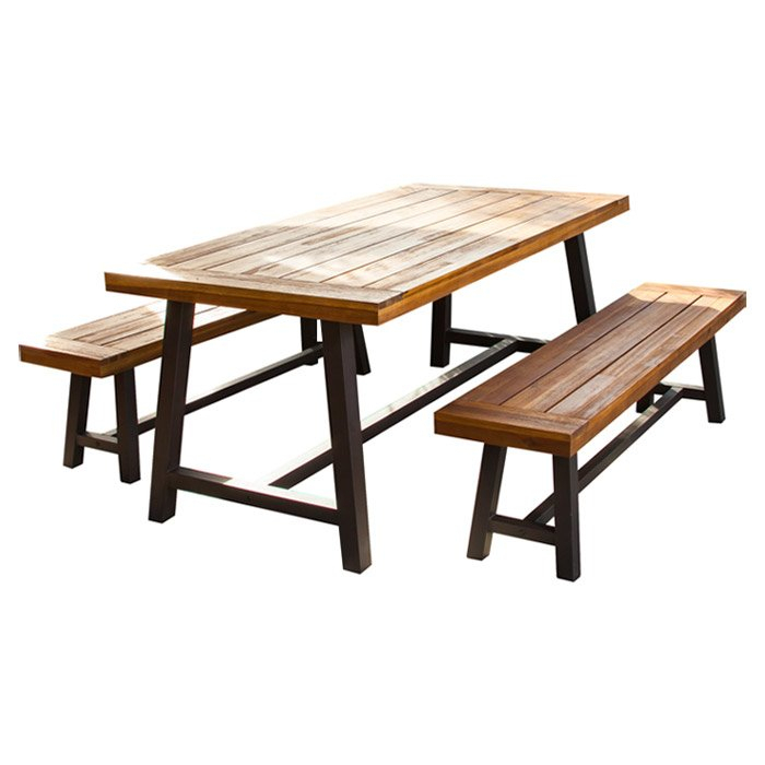 Bartlesville 3 Piece Dining Set Inside 3 Piece Dining Sets (View 15 of 25)
