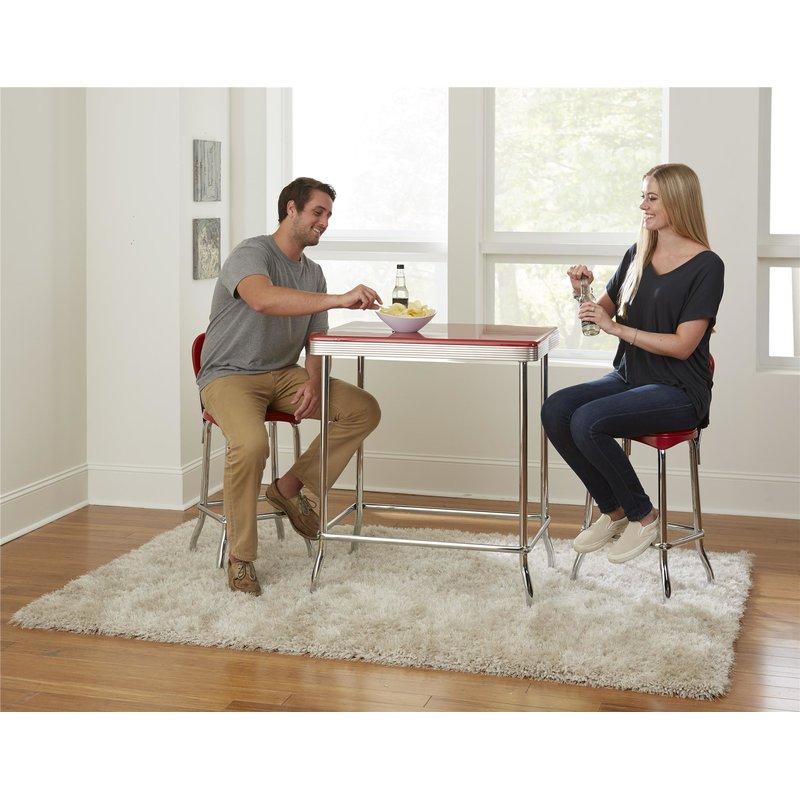 Bate Red Retro 3 Piece Dining Set Pertaining To Bate Red Retro 3 Piece Dining Sets (Image 5 of 25)