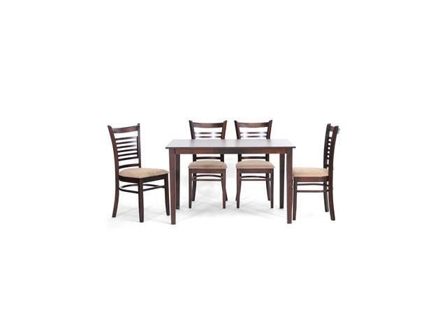 Baxton Studio Cathy Brown Wood Modern 5 Piece Dining Set, Dark Brown –  Wi3585Wi38824 – Newegg For North Reading 5 Piece Dining Table Sets (Image 6 of 25)