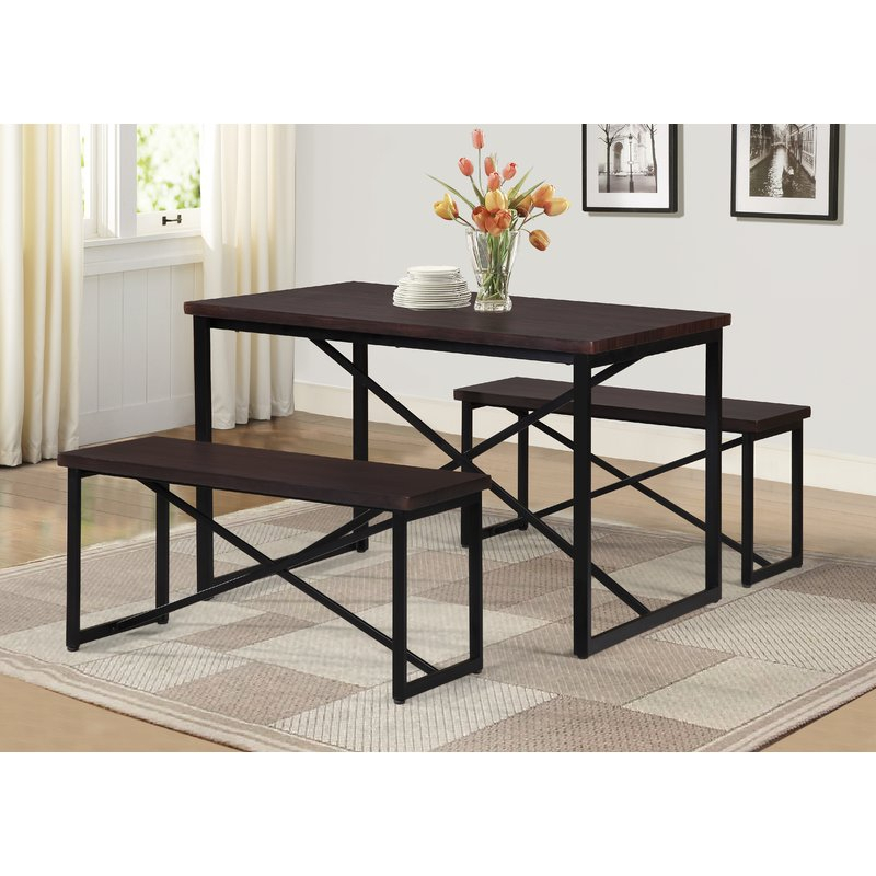 Bearden 3 Piece Dining Set Throughout Partin 3 Piece Dining Sets (Image 5 of 25)