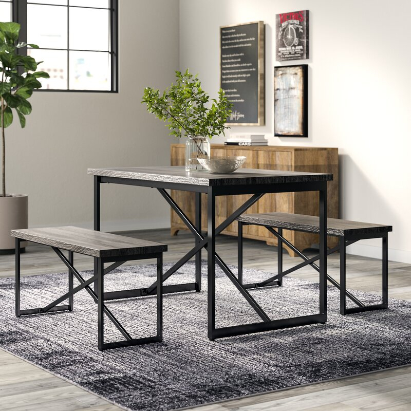 Bearden 3 Piece Dining Set Within Bearden 3 Piece Dining Sets (Image 5 of 25)