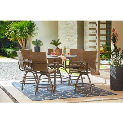 Beckham 7 Piece Outdoor Balcony Height Dining Set Within Kieffer 5 Piece Dining Sets (View 21 of 25)