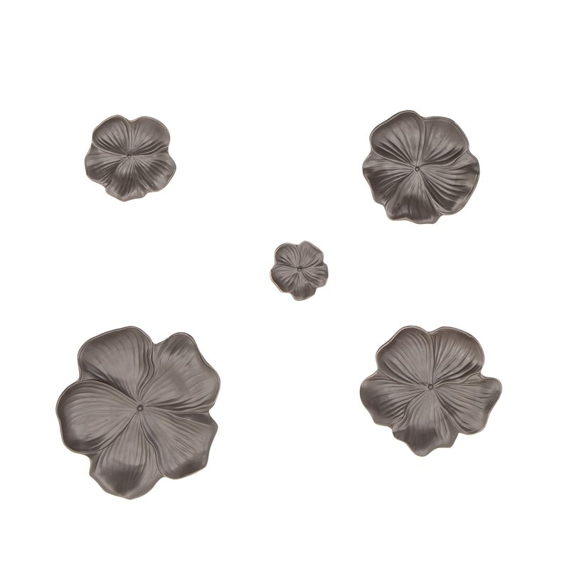 Bellefonte 5 Piece Ceramic Floral Wall Decor Set With Wallflower 3 Piece Dining Sets (View 16 of 25)