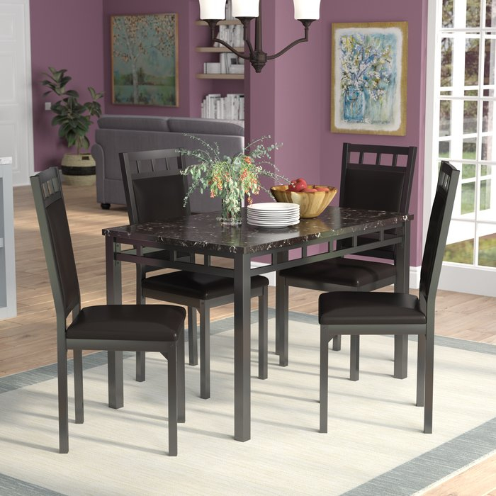 Bernice 5 Piece Dining Set Intended For Maynard 5 Piece Dining Sets (Image 1 of 25)
