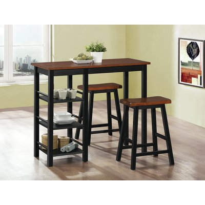 Berrios 3 Piece Counter Height Dining Set Pertaining To Winsted 4 Piece Counter Height Dining Sets (Image 5 of 25)