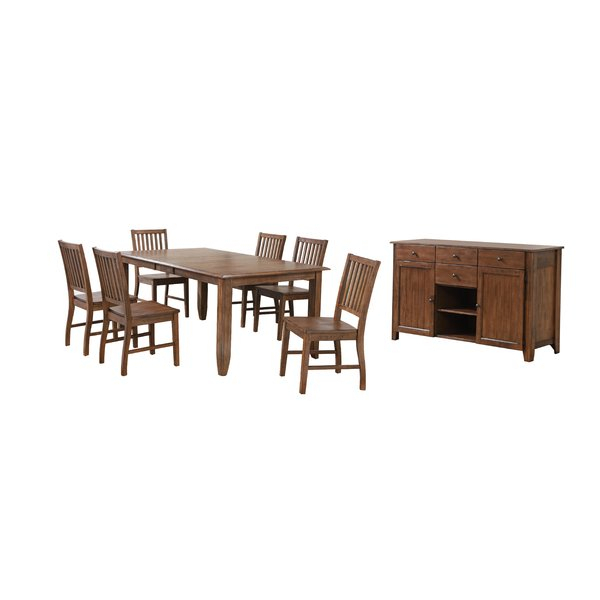 Best #1 Dudley 7 Piece Dining Setwooden Importers Today Only Regarding Hanska Wooden 5 Piece Counter Height Dining Table Sets (Set Of 5) (Image 4 of 25)