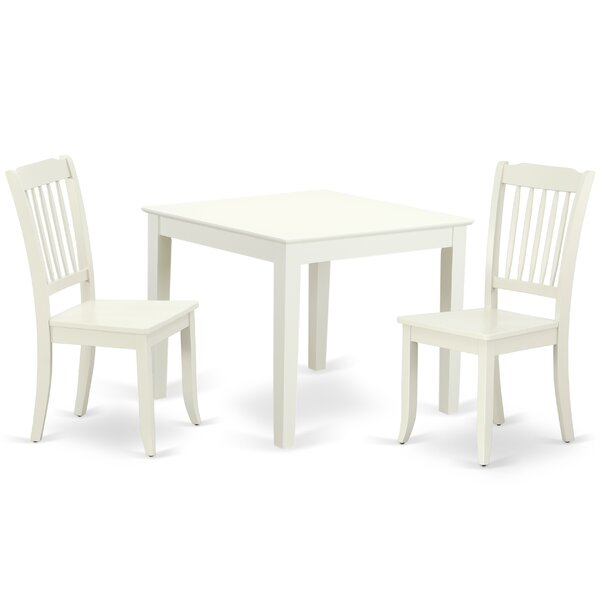 Best #1 Lalonde 3 Piece Solid Wood Dining Setaugust Grove Cool Regarding Smyrna 3 Piece Dining Sets (View 15 of 25)