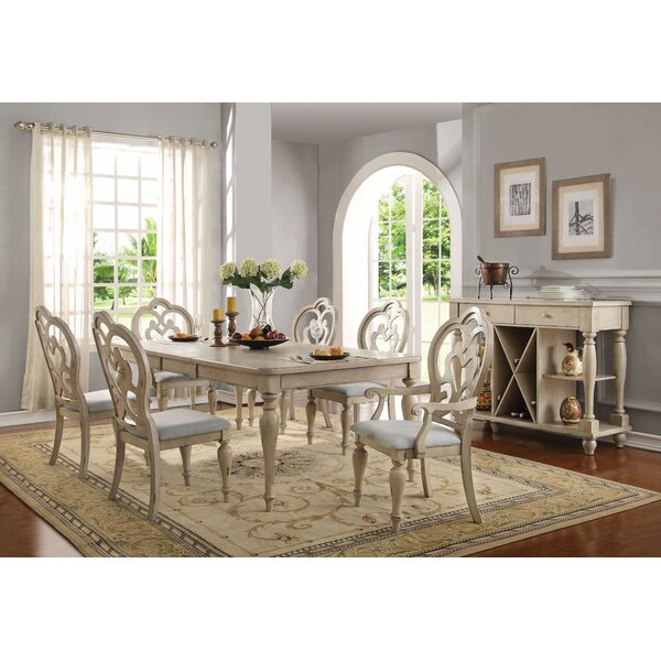 Best #1 Mireya 7 Pieces Extendable Dining Setophelia & Co (View 14 of 25)