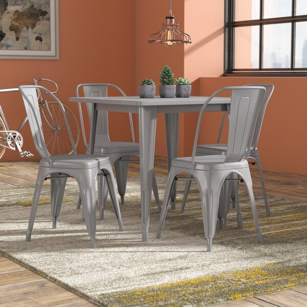 Best #1 Thomasson 6 Piece Solid Wood Dining Setmistana 2019 For Kaelin 5 Piece Dining Sets (Image 2 of 25)