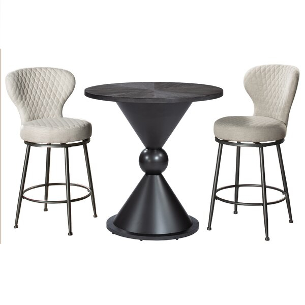 Best #1 Webb 4 Piece Pub Table Setebern Designs Wonderful Inside Kinsler 3 Piece Bistro Sets (View 17 of 25)