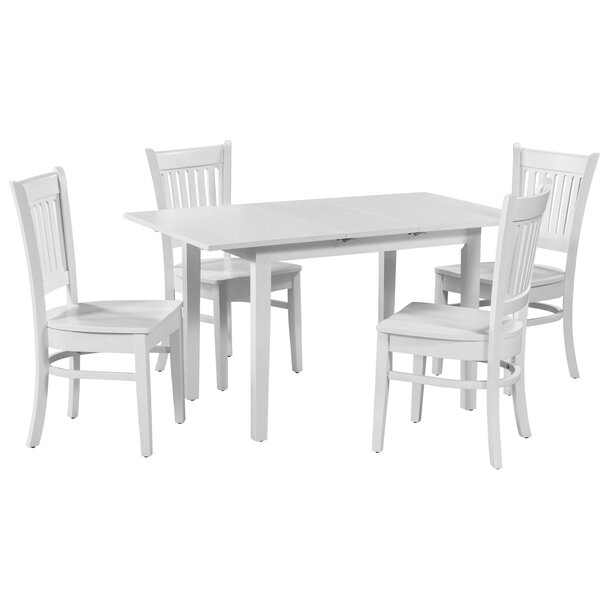 Best #1 Wooton 9 Piece Extendable Dining Table Setgracie Oaks Pertaining To Sundberg 5 Piece Solid Wood Dining Sets (Image 8 of 25)