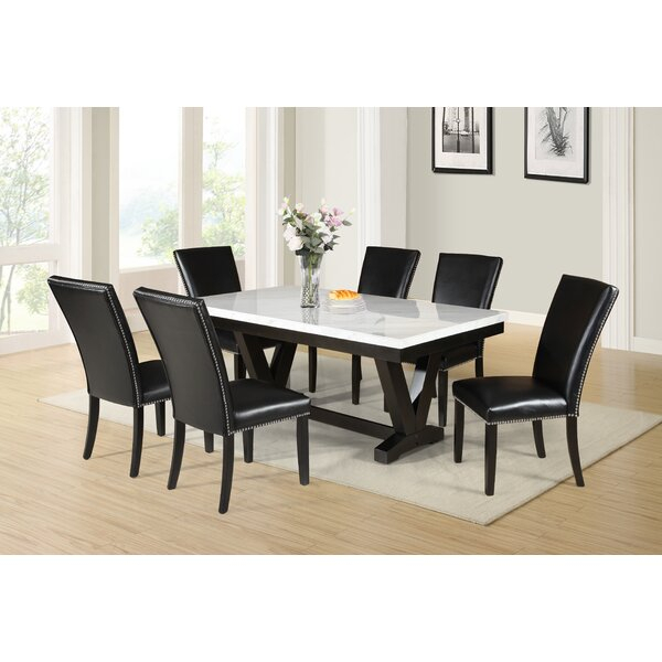 Best Choices Finley 7 Piece Dining Setred Barrel Studio Purchase In Pattonsburg 5 Piece Dining Sets (Image 8 of 25)