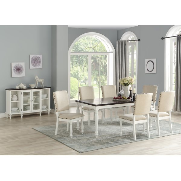 Best Choices Mitch 7 Piece Dining Sethighland Dunes Comparison For Laconia 7 Pieces Solid Wood Dining Sets (Set Of 7) (Image 4 of 25)