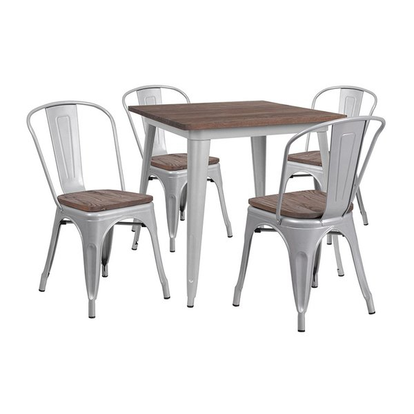 Best Choices Mucha 5 Piece Dining Setwilliston Forge 2019 Coupon In Goodman 5 Piece Solid Wood Dining Sets (Set Of 5) (View 8 of 25)
