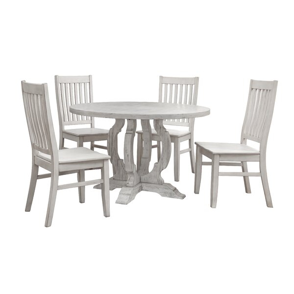 Best Choices Mucha 5 Piece Dining Setwilliston Forge 2019 Coupon With Goodman 5 Piece Solid Wood Dining Sets (Set Of 5) (View 21 of 25)