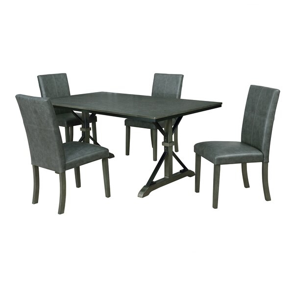 Best Choices Palou 5 Piece Dining Setgracie Oaks Wonderful In Nutter 3 Piece Dining Sets (Image 4 of 25)