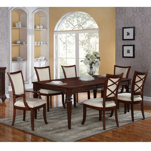 Best Choices Tameka 7 Piece Dining Setworld Menagerie Comparison With Laconia 7 Pieces Solid Wood Dining Sets (Set Of 7) (Image 5 of 25)