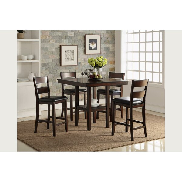 Best Darya Pedestal 5 Piece Extendable Dining Setdarby Home Co For Kaelin 5 Piece Dining Sets (Image 3 of 25)