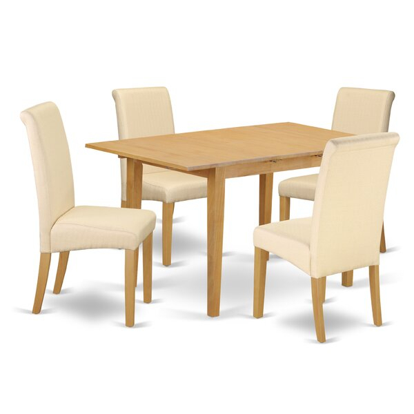 Best Darya Pedestal 5 Piece Extendable Dining Setdarby Home Co Inside Kaelin 5 Piece Dining Sets (Image 4 of 25)