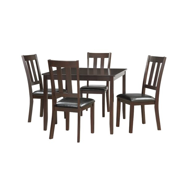 Best Design Emmaline 5 Piece Solid Wood Dining Setalcott Hill In Shepparton Vintage 3 Piece Dining Sets (View 16 of 25)