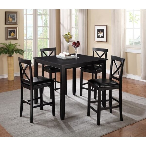 Best Design Putney 3 Piece Counter Height Breakfast Nook Dining Set With Mulvey 5 Piece Dining Sets (View 8 of 25)