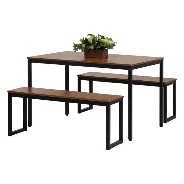 Best Design West Hill Family Table 3 Piece Dining Setebern Regarding Kaelin 5 Piece Dining Sets (Image 7 of 25)
