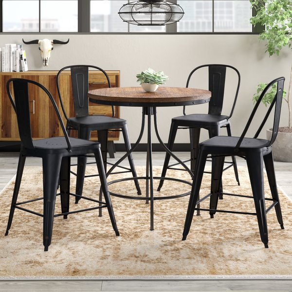 Best Fauntleroy 5 Piece Pub Table Settrent Austin Design Great Regarding Mulvey 5 Piece Dining Sets (View 6 of 25)