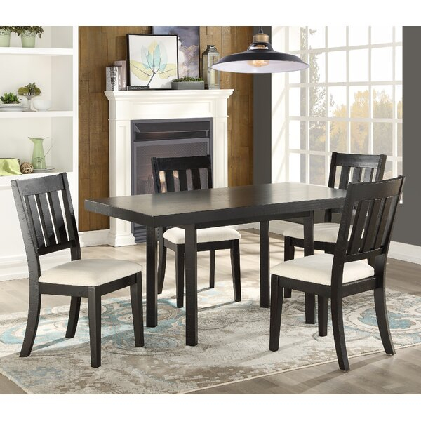 Best Rosenberry Modern And Contemporary 5 Piece Dining Set With Kinsler 3 Piece Bistro Sets (View 23 of 25)