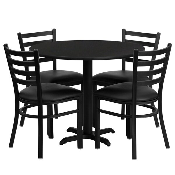 Best Yunpeng 5 Piece Dining Setred Barrel Studio 2019 Coupon Regarding Sundberg 5 Piece Solid Wood Dining Sets (Image 9 of 25)
