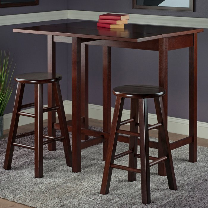 Bettencourt 3 Piece Counter Height Pub Table Set With Regard To Bettencourt 3 Piece Counter Height Dining Sets (View 3 of 25)