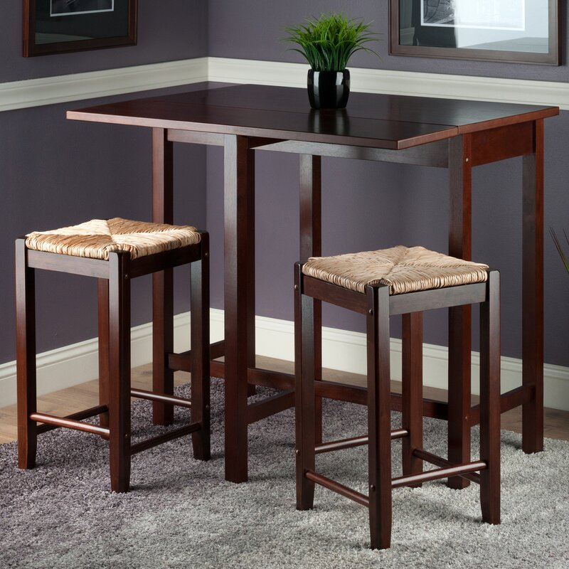 Bettencourt 3 Piece Counter Height Solid Wood Dining Set With Bettencourt 3 Piece Counter Height Dining Sets (View 2 of 25)