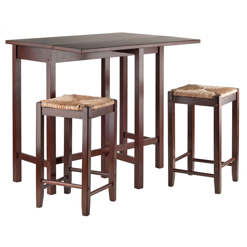 Bettencourt 3 Piece Counter Height Solid Wood Dining Set Within Bettencourt 3 Piece Counter Height Dining Sets (View 4 of 25)