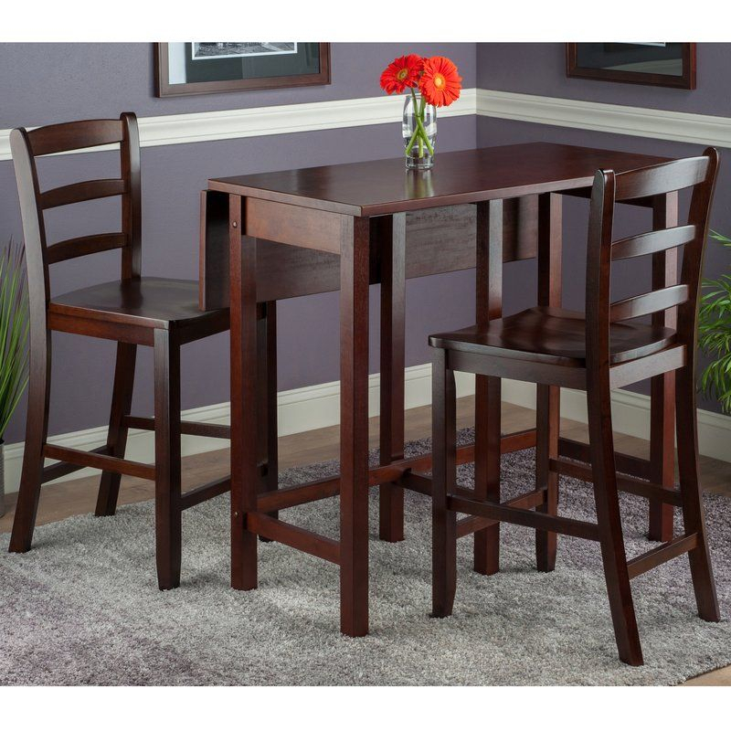 Bettencourt 3 Piece Drop Leaf Dining Set | Home Sweet Home | Counter Regarding Bettencourt 3 Piece Counter Height Solid Wood Dining Sets (View 2 of 25)