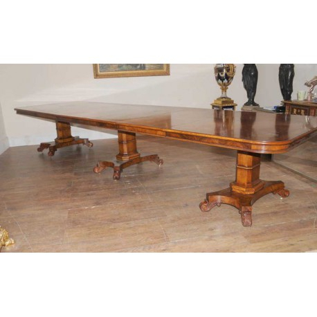 Blenheim Palace Walnut Regency Dining Table For Lonon 3 Piece Dining Sets (View 4 of 25)