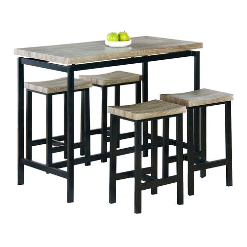 Bourges 5 Piece Pub Table Set In 2019 | Kitchen Remodel | Pub Table Regarding Kerley 4 Piece Dining Sets (View 4 of 25)
