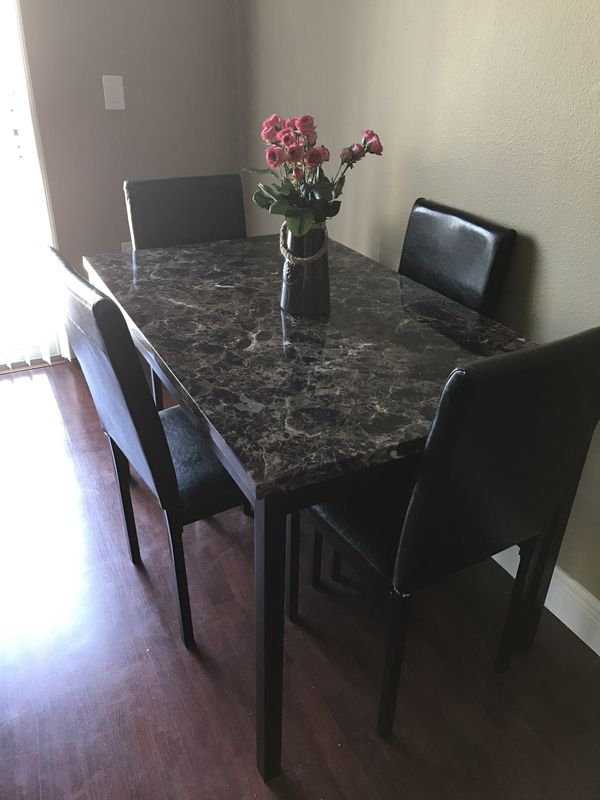 Brand New Wayfair Noyes 5 Piece Dining Set For Sale In Orlando, Fl – Offerup Pertaining To Noyes 5 Piece Dining Sets (Image 5 of 25)