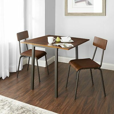 Breakfast Nook Dining Set 3 Piece Wood And Amp; Metal Table And Chairs Kitchen 4552163513874 | Ebay In Smyrna 3 Piece Dining Sets (View 19 of 25)