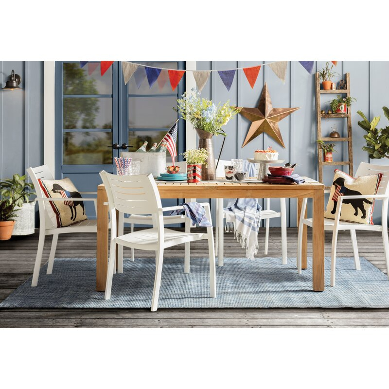 Brighton 7 Piece Teak Dining Set Inside Rossi 5 Piece Dining Sets (View 16 of 25)