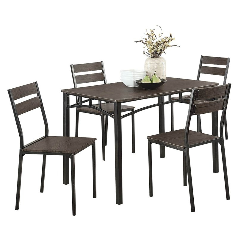 Brodhead Wooden 5 Piece Counter Height Dining Table Set Throughout Autberry 5 Piece Dining Sets (View 14 of 25)
