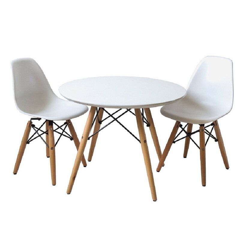Brodsky Kids 3 Piece Writing Table And Chair Set In 2019 | Emilia's Inside Nutter 3 Piece Dining Sets (View 8 of 25)